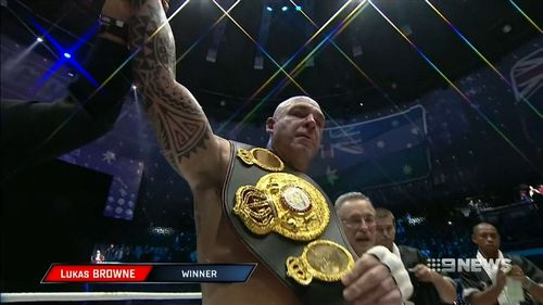 In 2016, Browne made history by becoming the first Australian to win a heavyweight world title. (9NEWS)