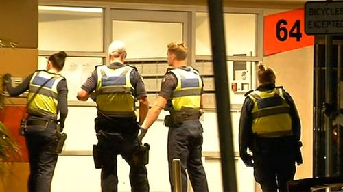 A man was stabbed by an intruder in his St Kilda home, police said.