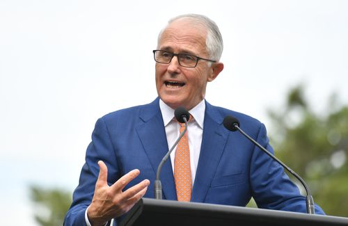 """PM Turnbull said open markets were """"good for jobs n France, good for jobs in Australia."""" Picture: AAP"""