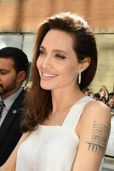"Angelina Jolie attends 2017 Toronto International Film Festival - ""The Breadwinner"" Premiere at Winter Garden Theatre on September 10, 2017 in Toronto, Canada."