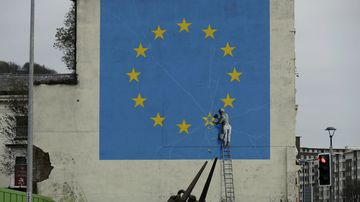 Banksy's Brexit mural vanishes from UK city
