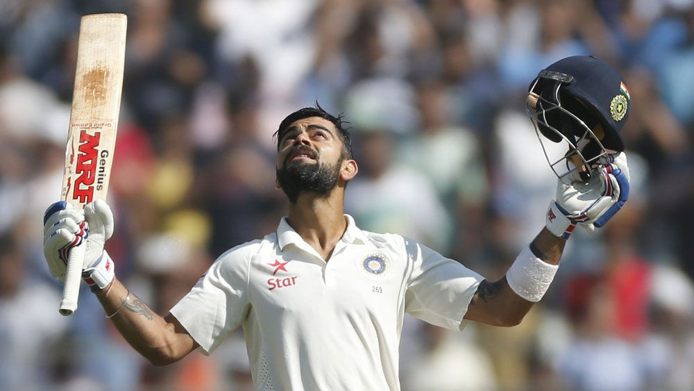 Virat Kohli hit a superb double century for India. (AAP)