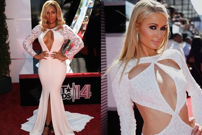 Did TheFIX miss the 2014 BET Awards dress code? Because this year's super-sexy red carpet saw more accidental boob-flashes than ever before...<br/><br/>We guess that's what happens with busty cut-outs, right?<br/><br/>From Paris Hilton's barely-there number to Ashanti's naughty neckline, check out our fave celebs' most shocking frocks from the night! <br/><br/>