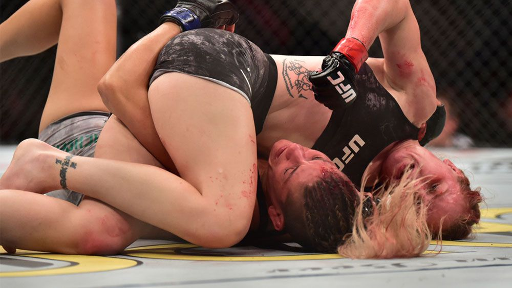 UFC stars alentina Shevchenko and Priscila Pedrita
