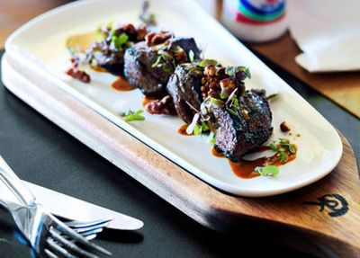 """Recipe: <a href=""""http://kitchen.nine.com.au/2016/05/05/15/44/beef-rump-with-lebanese-sevenspice-and-soytahini-dressing"""" target=""""_top"""">Beef rump with Lebanese seven-spice and soy-tahini dressing</a>"""
