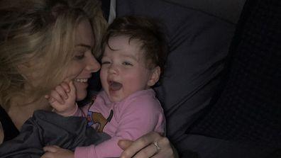 Erin and Eliza snuggle time