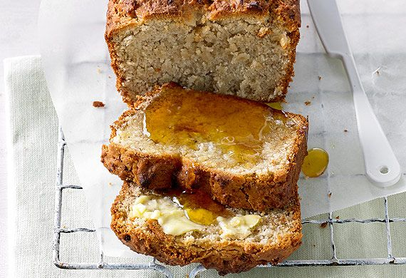 Banana bread with psyllium husks