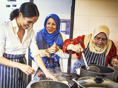 Meghan Markle at the Hubb Community Kitchen.
