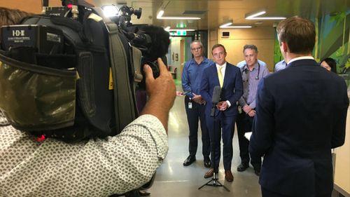 Health minister Steven Miles speaks with 9NEWS reporter Tim Arvier.