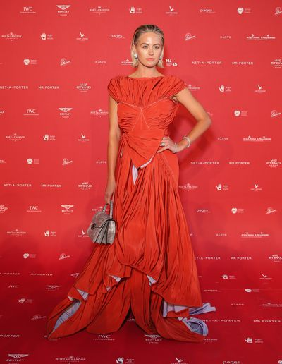 Jesinta Franklin in Toni Maticevski at the 2018 MAAS Centre for Fashion Ball
