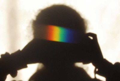 Young Science Photographer of the Year winner: Rainbow shadow selfie