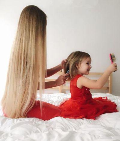 Like mama, like daughter - a beautiful ritual.