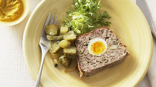 Meat loaf with tomato salsa