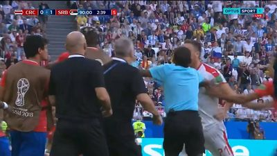 World Cup 2018: Nemanja Matic in sideline scuffle with Costa Rica in Serbia victory
