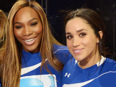 Serena Williams and Meghan Markle met at the Super Bowl in 2010.