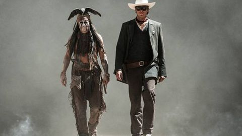 Yee-haw! New pics of Johnny Depp in The Lone Ranger