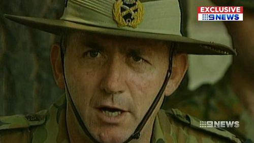 Then-Major General Peter Cosgrove, the Australian head of the International Forces.