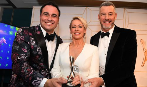 While Amanda Keller missed out on the Gold Logie, her show The Living Room took out the Most Popular Lifestyle Program gong. Image: AAP