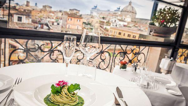 View from the restaurant (Minerva Roof Garden)