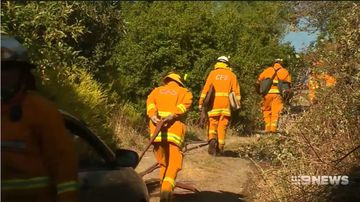 Firefighters have managed to contain a bushfire burning in the Adelaide Hills.