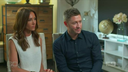 Kyly and Michael Clarke. (60 Minutes)