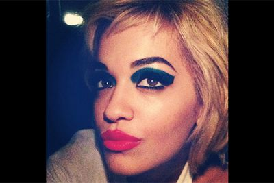 Rita Ora showed off her enviable pout and desecrated a makeup law as old as time — always accentuate eyes <i>or</i> <br/>lips, never both!<br/><br/><i>Image: Instagram @ritaora</i>