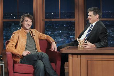Craig Ferguson and Robert Downey Jr on the Late Late Show in 2010.