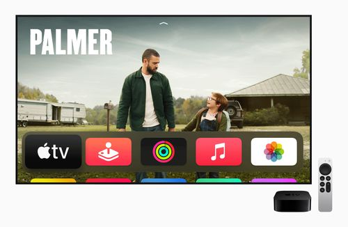 The TV can stream and synch with other Apple devices.