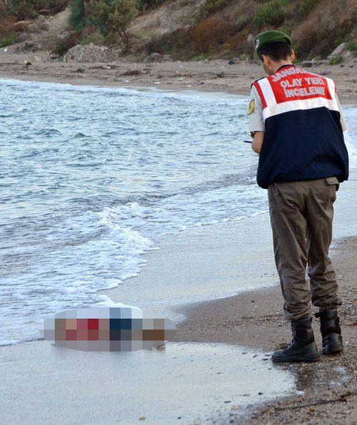 The photos have become symbolic of the European migrant crisis. (AAP)