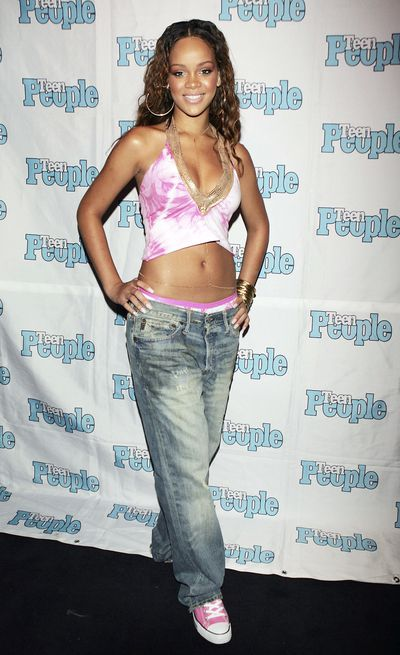 Rihanna at an event hosted by Jay-Z in Los Angeles 2005