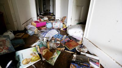 Inside Pauline Cambourne's Dungog home. (AAP)