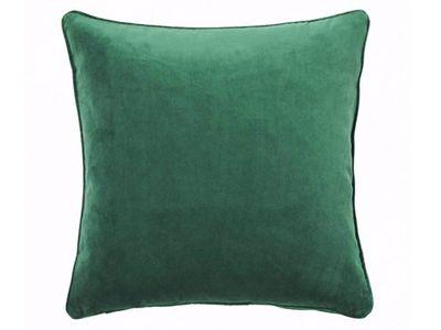 The Block Shop — Zoe Velvet Cushion (Forest Green)