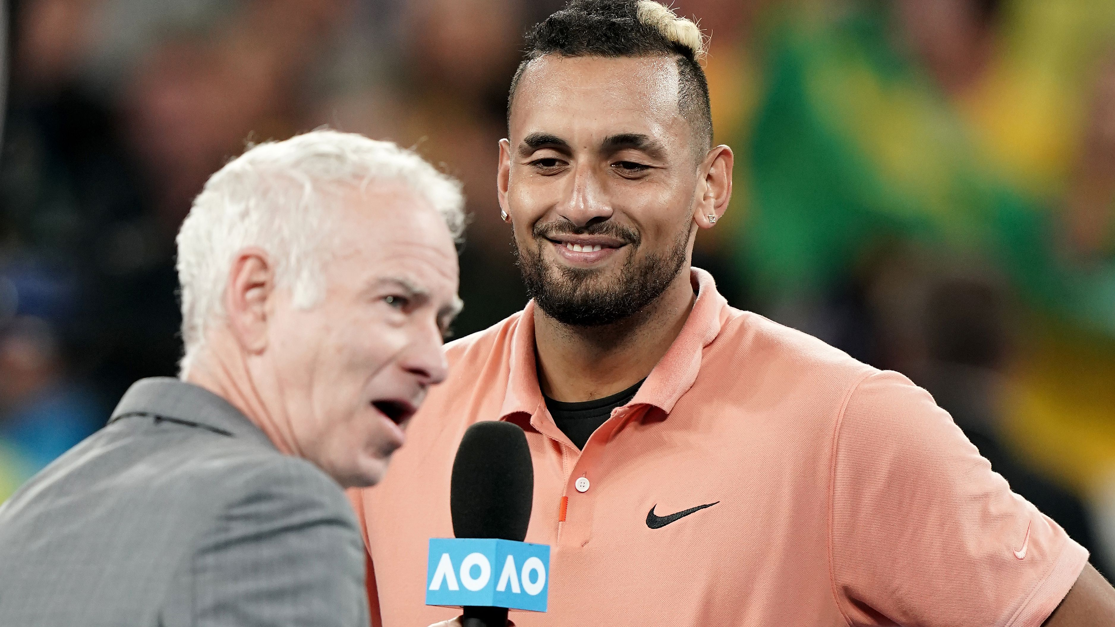 Nick Kyrgios shrugs off injury fears, pays tribute to Alex de Minaur after win