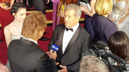 Hacksaw Ridge Director Mel Gibson. (9NEWS/Ehsan Knopf)