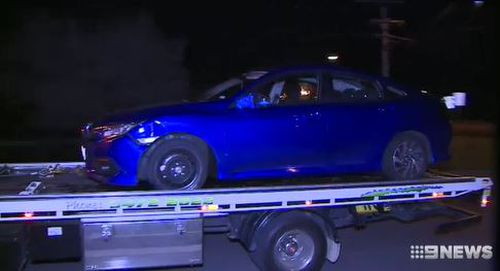 Police pulled this vehicle over after it was spotted driving erratically down a Bendigo street. Picture: 9News