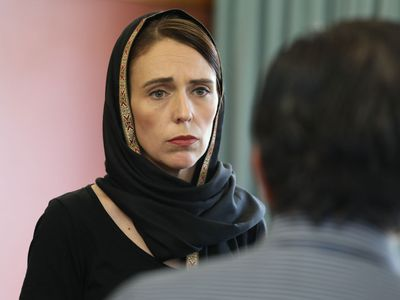 Jacinda Ardern meets with worshippers at Kilbirnie Mosque