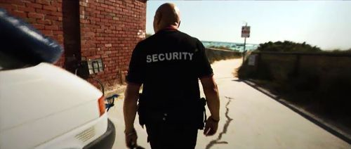 The security guards are armed with Glock handguns.
