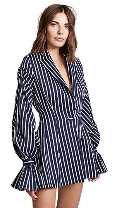"<a href=""https://www.shopbop.com/pinstriped-ruffle-blazer-dress-vatanika/vp/v=1/1515277175.htm?fm=search-viewall-shopbysize&os=false"" target=""_blank"" title=""Vatanika Pinstripe Ruffle Blazer Dress, $899.38"" draggable=""false"">Vatanika Pinstripe Ruffle Blazer Dress, $899.38</a>"