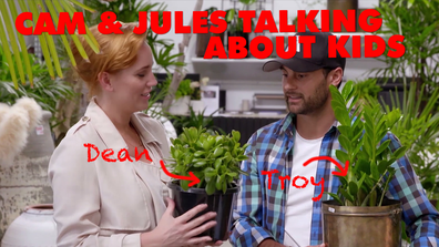 MAFS' Cam and Jules talking about kids for 3 minutes