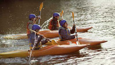 Swap the rowing machine for kayaking