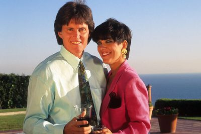 Erm, cheesy much?! We're guessing new wife Kris Jenner had something to do with that... and the 80s tie. <br>