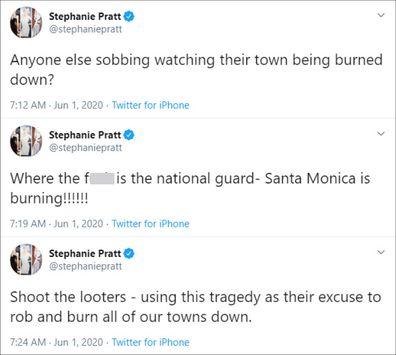 Stephanie Pratt, George Floyd, tweet, shoot looters