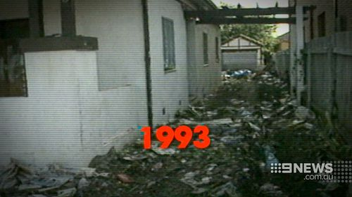 Lines of trash strewn around the perimeter were visible as early as 1993.