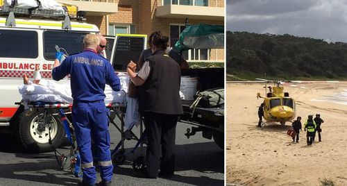 David Quinlivan, 65, was bitten by a shark at Black Head Beach on the NSW mid-north coast. (9NEWS)