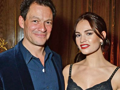 Dominic West and Lily James October 2018