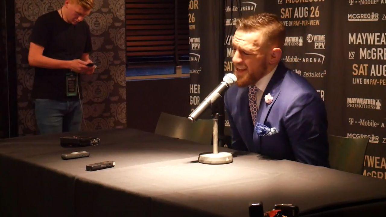 McGregor addresses racism questions