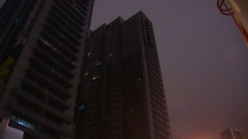 A man aged in his 20s has plunged to his death from a 26th floor balcony of a South Melbourne apartment block. (9NEWS)