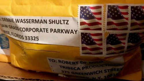 A picture from CNN of the package sent to Robert De Niro.