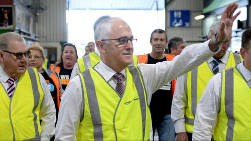 Prime Minister Malcolm Turnbull visits the Sydney Growers Markets.