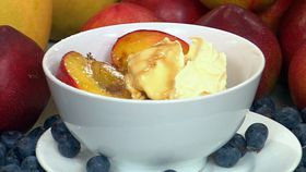 Grilled nectarines with marsala syrup